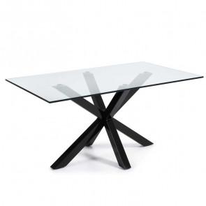Tavolo vetro Argo Gihome ® con gambe nere