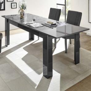 Tavolo da pranzo 137 allungabile Prisma grigio con serigrafia