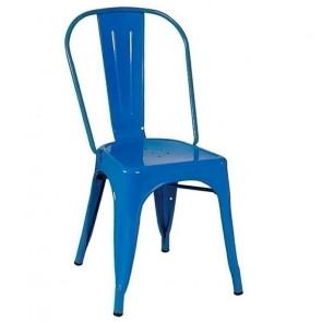 Sedia metallo Tolix blu