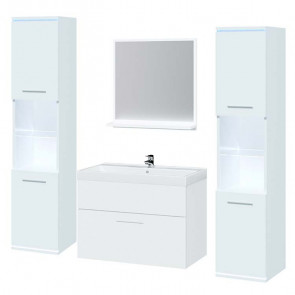 Mobile bagno Dexi bianco opaco e lucido