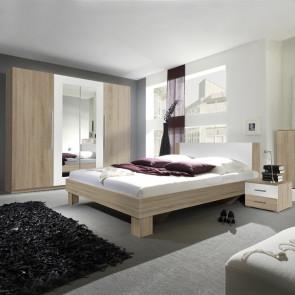 Camera completa Lisa Gihome ® rovere e bianco con letto standard