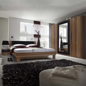 Camera completa Lisa Gihome ® noce e nero con letto standard