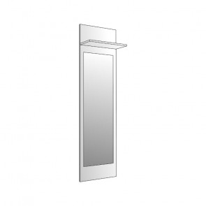 Boiserie armadi Amalti con specchio bianco opaco