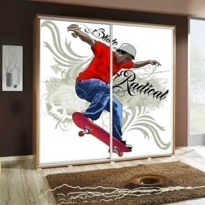 Armadio 2 ante scorrevoli Eliot 205 Skate