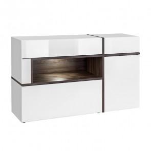Credenza soggiorno Mackay Gihome ® bianco opaco bianco lucido moderna