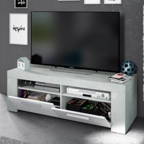 Porta tv Zante bianco cemento