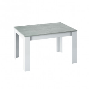 Tavolo allungabile Zander bianco opaco cemento