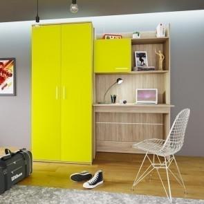 Scrivania+armadio Boris Gihome ® giallo rovere