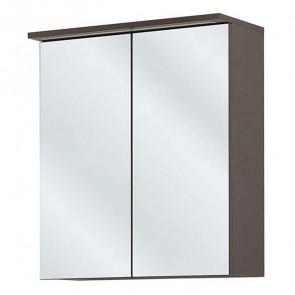 Mobile con specchio bagno Rabat 60 grigio lucido