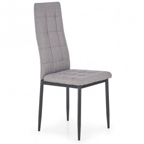 Sedia in tessuto Ylenia grigio