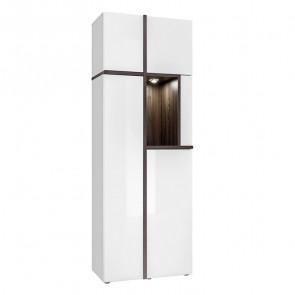 Vetrina alta soggiorno Mackay Gihome ® bianco opaco bianco lucido moderno