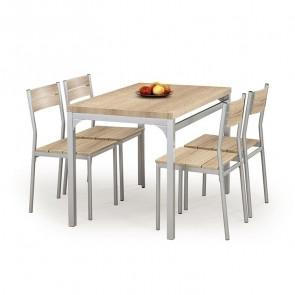 Set tavolo e 4 sedie Oasi rovere