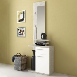 Mobile ingresso Jimmy Gihome ® bianco cemento