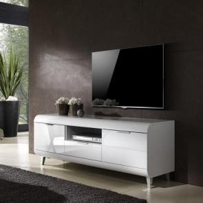 Porta tv Duna Gihome ® grande bianco lucido