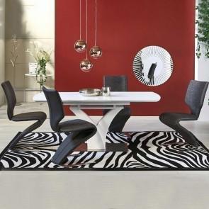 Tavolo allungabile Dione Gihome ® vetro bianco