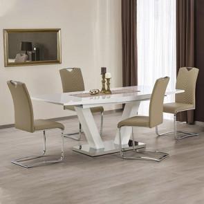 Tavolo allungabile Sfinge bianco lucido