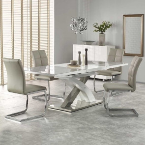 Tavolo allungabile Iride Gihome ® grigio bianco