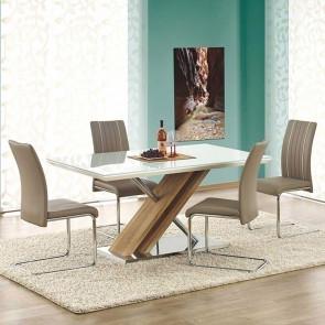 Tavolo Mango Gihome ® bianco rovere sonoma