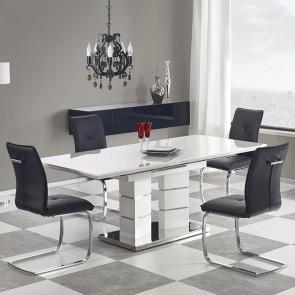 Tavolo allungabile Salus bianco lucido