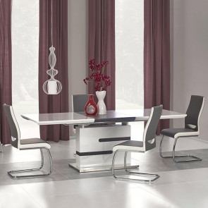 Tavolo allungabile Coriandolo bianco grigio