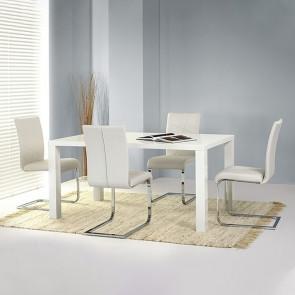 Tavolo Persico bianco lucido 120