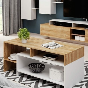 Tavolino Dora Gihome ® rovere bianco moderno