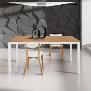 Tavolo allungabile Ben bicolore 120x80 cm