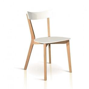 Sedia in legno Brianna rovere e bianco