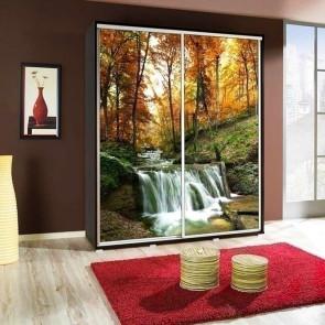 Armadio 2 ante scorrevoli Eliot 155 Waterfall grafica stampa design