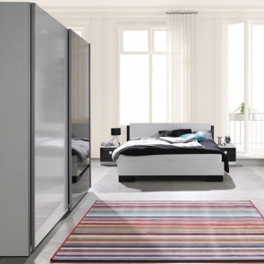 Camera completa Jenny bianco nero con letto + comodini + armadio