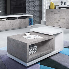 Tavolino Megan Gihome ® bianco cemento