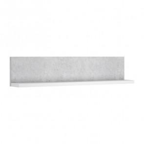 Mensola per parete attrezzata Megan Gihome ® bianco cemento