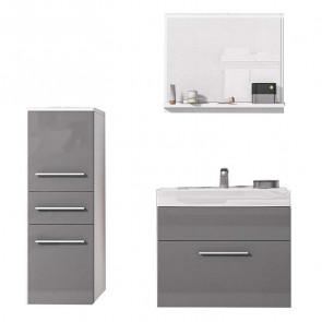 Mobile bagno Sinex struttura bianco frontali grigio