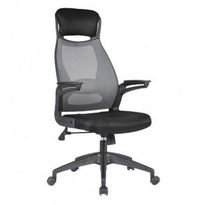 Sedia da ufficio design Kalos tessuto nero grigio