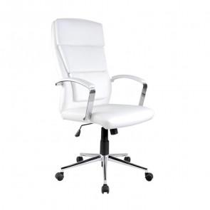 Sedia da ufficio design Cascada ecopelle bianco