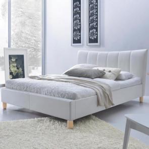 Letto matrimoniale Cabras Gihome ® ecopelle bianco moderno