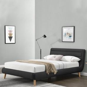 Letto 160 Pompei Gihome ® tessuto grigio scuro moderno