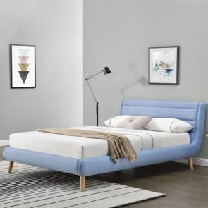 Letto 160 Pompei Gihome ® tessuto azzurro moderno