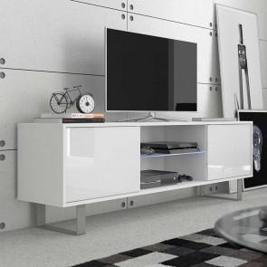 Mobile porta tv Lewis bianco bianco lucido