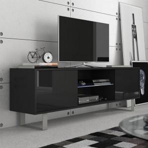 Mobile porta tv Lewis nero nero lucido