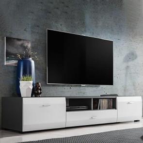 Porta tv Sting Gihome ® grafite bianco opaco