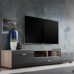 Porta tv Sting Gihome ® rovere grafite opaco