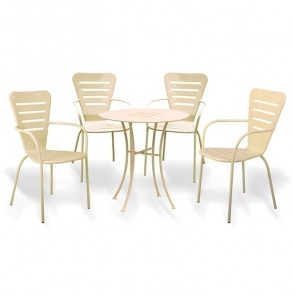 Set tavolo + 4 sedie esterno giardino Tosco