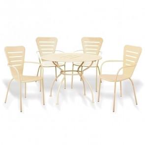 Set tavolo + 4 sedie esterno giardino Nea