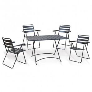 Set tavolo + 4 sedie pieghevole esterno giardino salvaspazio Beta