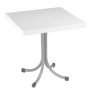 Tavolo bar Miguel polipropilene bianco 75 x 75