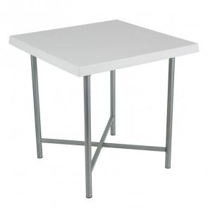 Tavolo quadrato Alvaro polipropilene bianco 75 x 75
