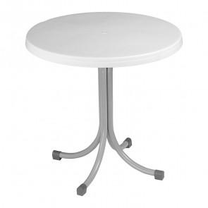 Tavolo rotondo Elvio polipropilene bianco 80 x 80