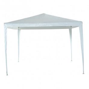 Gazebo Bianco 3 x 3 acciao telo 110 gr/m²