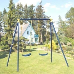 Altalena bambini Sissi 2 posti struttura acciaio gioco bambino